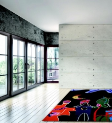 Teppich Carpet Art Night Town